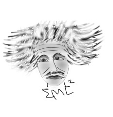 Finger Sketch of Albert Einstein on Android, Samsung Galaxy Tab 7.4. Copyright � 2015. Lin Hsin Hsin. All Rights Reserved. Mobile~tainment�. Frog�